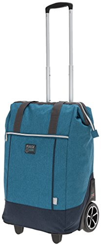 Punta Big Wheel Einkaufsroller Trolley Einkaufstrolley Trolly 10303 + Thermo Tasche (Two Tone BLAU (4600))