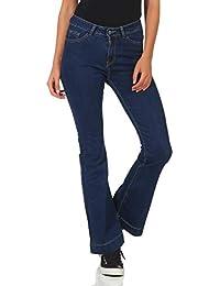 e98295653b52b Malito Damen Jeans | Coole Schlaghose | Jeans mit Bootcut | 5-Pocket -  Stretch
