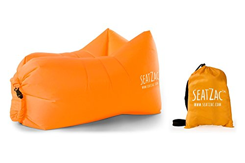 SeatZac Sitzsack, Polyester, Orange, 40 x 18 x 12 cm