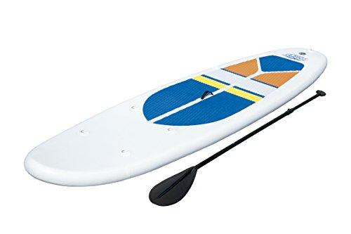 Bestway 65070 - Tabla Paddle Surf Bestway WaveEdge SUP White Cap (305 x 81 x 10 cm) - Incluye 1 remo de 1 pala, inflador, y bolsa de transporte