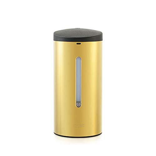 Distributeur Automatique de Savon en Mousse en Acier Inoxydable 700ML Sonde Liquide sans Contact Hôtel Restauration Toilette Savon Boîte Liquide (Color : Gold)