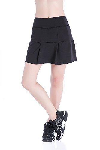 EAST HONG Women's Pocket Tennis Skorts Workout Running Golf Skirt with Inner Shorts