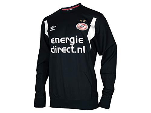 Umbro PSV Eindhoven Training Drill Top schwarz Fussball Sweatshirt PSV Jersey, Größe:S