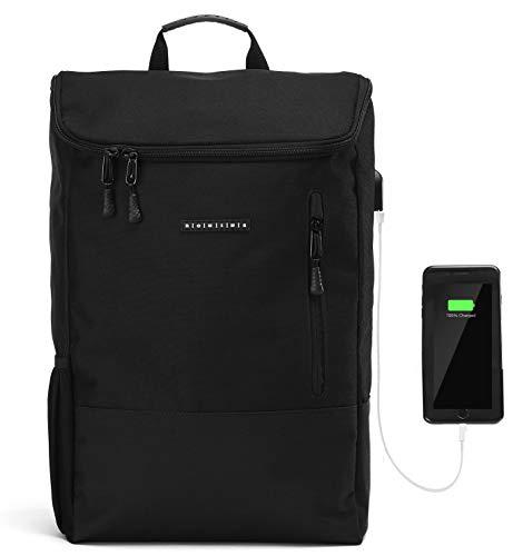 Ronin's Rucksack Herren Damen | Stilvoll und Durchdacht | für Arbeit Reisen Freizeit Uni | mit Laptopfach & Anti Diebstahl Tasche | Schwarz -