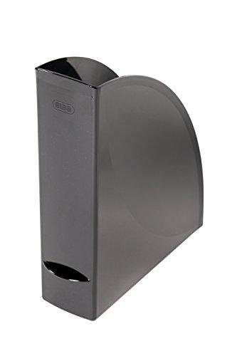 ELBA 400091711 Stehsammler wave 4er Pack aus Kunststoff 100% recyclebar, robust, hochwertig und schick schwarz Archivbox Zeitschriften-Sammler Dokumenten-Ordner