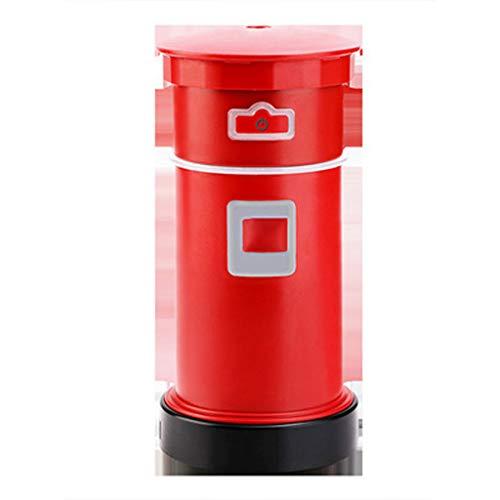 Kuke Mini Auto Luftbefeuchter Niedlichen Postfach Form, Tisch Luftbefeuchter mit LED-Nachtlicht Tragbare USB Diffuser Leiser Luftbefeuchtung für Büro Tisch Reise Schlafzimmer Kinderzimme (Rot)