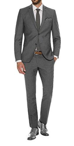 Herren Übergrößen Anzug mit Stretchanteil in Anthrazit oder Hellgrau, Benno/Ingo (194 1410) (Gr.: 50-72/ 98-122/ 24-38), Größe:56, Farbe:Grau(04)