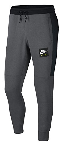 Nike Herren Air Fleece Jogger Hose, Dark Grey/Black/Whit, M (Herren Hose Nike Fleece)