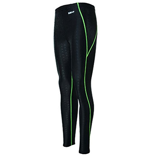 Zhuhaitf Ausgezeichnet Unisex Surfing Diving Swimmin Sun Protection Leggings Pants Black&Green