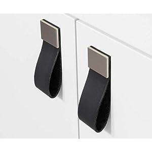 12 Farben + 2 Größen! Möbelgriffe aus Leder handmade in Germany, Lederschlaufen Ledergriffe Schrankgriffe Küchengriffe…