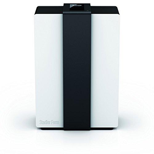 Stadler Form Design Luftwäscher Robert [Luftbefeuchter/-reiniger, Bewegungssensor, 4 Leistungsstufen], weiß/schwarz