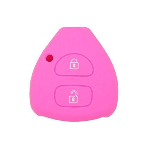fassport-silicone-cover-skin-jacket-fit-for-toyota-2-button-remote-key-hollow-texture-cv9406-pink