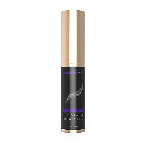 Eyebrow Regrowth Treatment by GrowthTech – Brow Enhancer Growth Gel – Double Peptide Rapid Booster Serum – Castor Oil – Enhancing Serum Grow Thicker Longer Healthier Hair