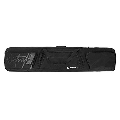 Winterial Doppelte Snowboardtasche mit Rollen, Reisetasche mit Staufächern, verstärkte Doppelpolsterung perfekt für Road Trips und Air Travel, passend für 2 Snowboards -