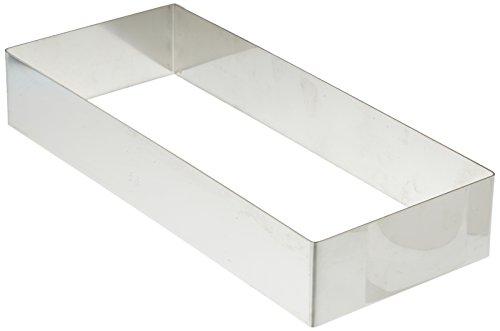 Decora 0063763 rettangolo in acciaio inox, 26 x 11 x 4.5 cm, argento