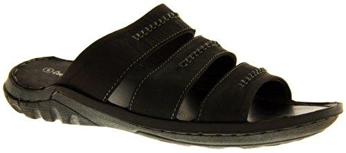 Footwear Studio , Sandales pour homme Noir - Black (3 Strap)