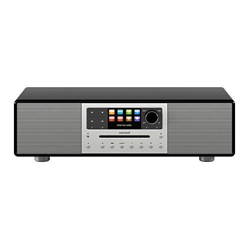 sonoro MEISTERSTÜCK Kompaktanlage Streaming+ (FM/DAB+, CD, AUX, Bluetooth, Spotify, Amazon Music, Napster, Qobuz, Tidal, Deezer) Schwarz