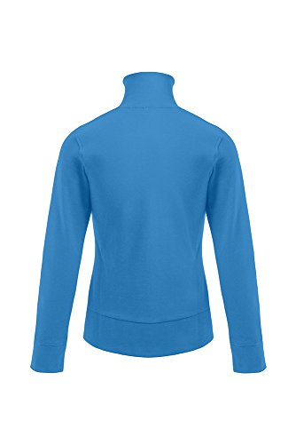 Sweat femme col montant Turquoise