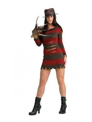 Generique - Miss Freddy Krueger-Kostüm für Damen (Miss Voorhees Kostüm)