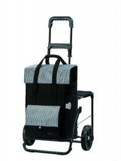 Andersen Shopper Komfort mit Sitz und 49 Liter Tasche Milla schwarz