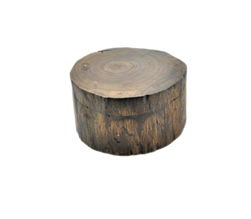 runde Kiste aus Teakholz, D: 13 cm