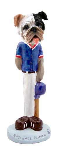 Bulldog Brindle Baseball Doogie Collectable Figurine by CON -