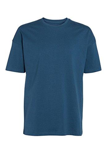 Next Herren T-Shirt mit Rundhalsausschnitt– Drop-Shoulder Fit Dunkles Petrol XL (T-shirt Herren Drop)