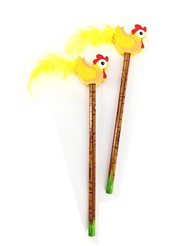 6 x Bleistift Huhn mit Radiergummi in Hühner Form   Mitgebsel   Bauernhof   Hühnerhof   Farm   Ostern