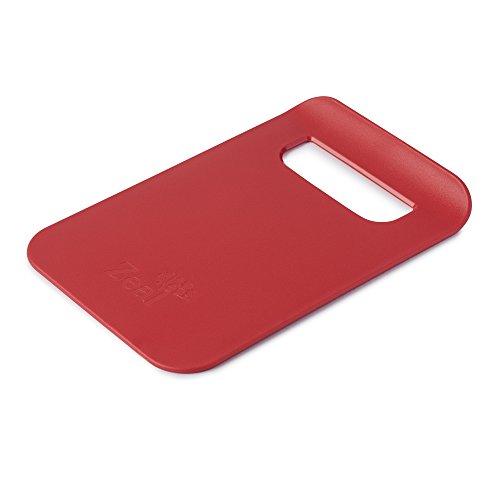 Zeal Dritto a Pan Slim Cucina Tagliere Board-Small (22,9cm/22cm), Rosso, 21.5x 14.5x 2cm