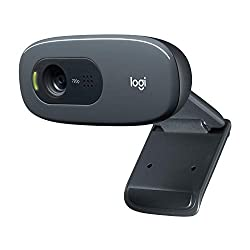 Logitech C270 HD Webcam for Widescreen Video Calling with Noise-Reducing Mic and Automatic Light Correction - Black