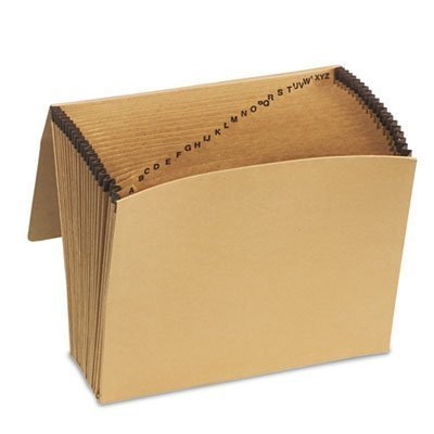 Essentials A-Z Expanding File, 21 Pockets, Kraft, Letter, Brown by ESSELTE PENDAFLEX CORP.