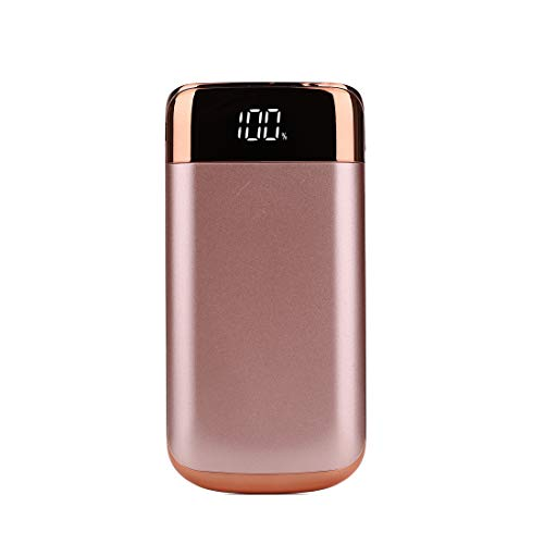 DJym 10000mAh Power Bank Ultra High Capacity Externe Batterie Pack mit LED-Taschenlampe Portable Charger kompatibel mit iPhone, iPad, Samsung und mehr,Pink