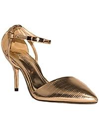 COLOURCHERIE - Zapato Tacón Punta Fina KA006 Zapatos Mujer Tacón Alto  Fiesta Elegante con Punta Cerrada cd1d39f17d12