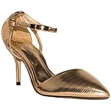 disfrute del envío de cortesía calidad estable salida de fábrica Amazon Fiesta Zapatos Dorado es Negros AUWrpAFqw - larynx ...