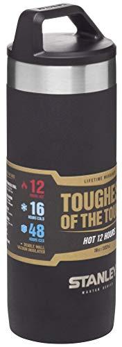 Stanley Master Series Vakuum-Thermobecher, 0.53 Liter, Schwarz, 18/8 Stainless Edelstahl, 12 Stunden heiß / 16 Stunden kalt, Doppelwandige Isolierung, Isolierbecher