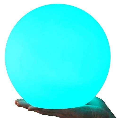 LED Kugelleuchte, Alwoa Gartenleuchten Kugelleuchte Außen Durchmesser 20cm, 16 verstellbarer Farben, Wasserdichte Klasse IP68 Nachtlicht Sphere Form für Garten, SmartHome, Dekorative Beleuchtung