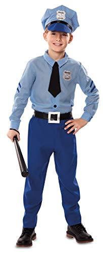 Enter-Deal-Berlin Kinderkostüm Kleiner Polizist Polizistin Junge Mädchen Größe 122-138 cm ( 7-9 Jahre ) blau hellblau