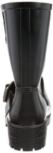 Calvin Klein Jeans ABBIE MATTE RUBBER RE8833 Damen Stiefel Schwarz (Blk)