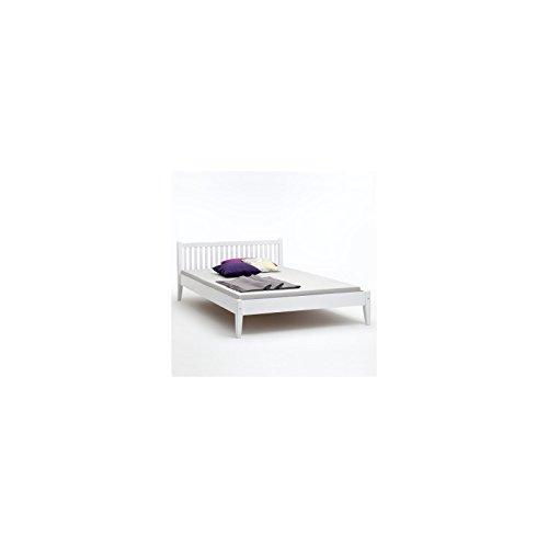 IDIMEX Bett SONJA Buche Doppellbett Bettgestell Holzbett weiß lackiert 140×200