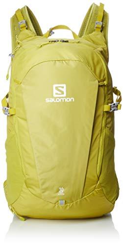Salomon, Leichter Rucksack, Für Wandern oder Radfahren, 30L, TRAILBLAZER 30, Gelb (Citronelle), LC1084000