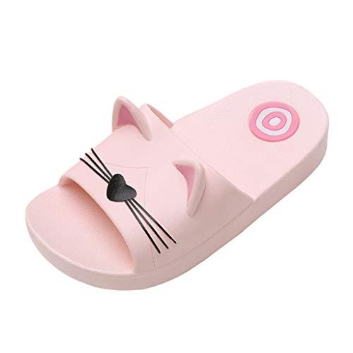 TUDUZ Herbst Kinder Princess Shoes Belted Schuhe mit Diamanten Schuhe Freizeitschuhe Sneaker Badeschuhe klassisch Aquaschuhe(Rosa,31-32EU) -