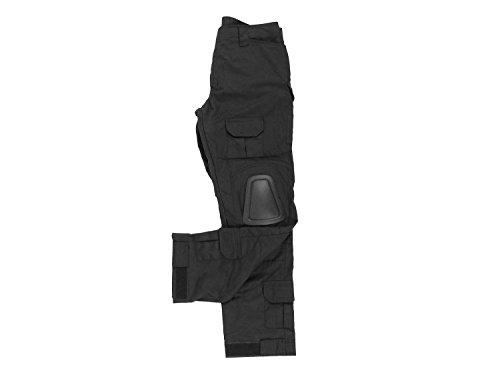BEGADI Basics Combat Pants / Hose, mit 10 Taschen & abnehmbaren Knieschonern - schwarz -