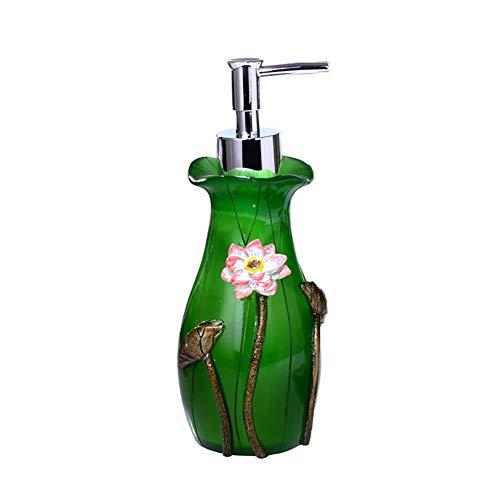 Flüssigseifenspender mit Edelstahlpumpen Nachfüllbare Flasche, für ätherische Öle, Lotionen, Flüssigseifen (Farbe : Grün)