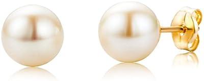 Miore Pendientes de mujer con oro amarillo de 18 k (750), perla cultivada de agua dulce