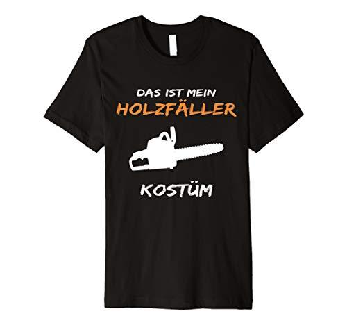Holzfäller Kostüm Herren - Holzfäller Kostüm T-Shirt Lustige Verkleidung Für