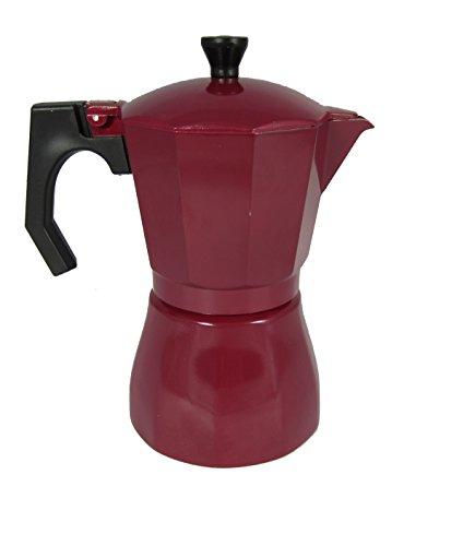 Jocca Garnet Italienische Kaffeemaschine, Aluminium, Mehrfarbig, 16,6 x 10,2 x 19,5 cm