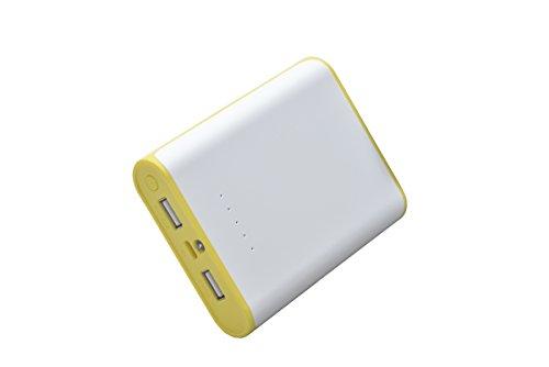 Aricona Power Bank 7800 mAh in gelb - externer & mobiler USB PowerBank Akku, paralleler Ladevorgang für bis zu Zwei Expert 's, Smartphones & Tablets - Der Power Order off Charger