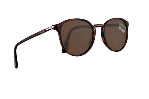 Persol PO3210S Sonnenbrille Braun Havana Mit Polarisierten Brauen Gläsern 54mm 2457 PO 3210S PO 3210-S PO3210-S