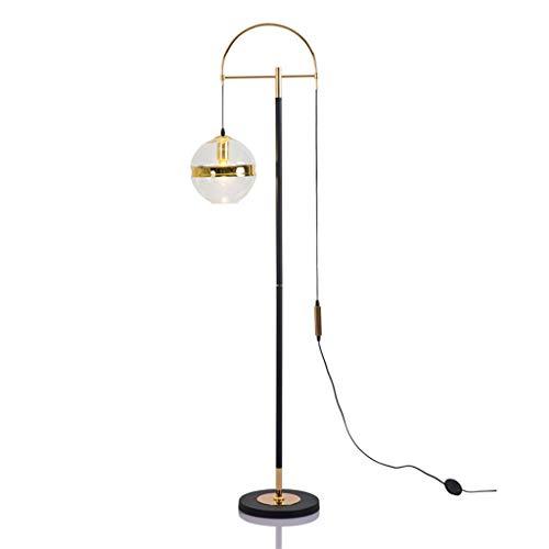 *Stehlampe Kronleuchter, Glas Gold Stehlampe Wohnzimmer Couchtisch Studie Schlafzimmer Nachttischlampe Designer Villa Stehlampe Stehlampe gewölbt (Color : Ordinary opening)