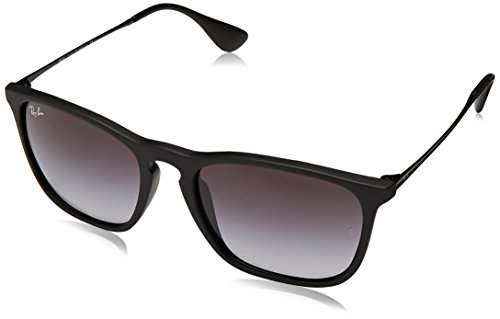 Ray-Ban Herren Chris RB4187 Square Sonnenbrille, Black (schwarz), Gr. 54